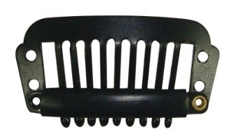 Medium Hair Extension Clips- Black (set of 26)