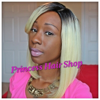 "Russian Platinum Collection 12"" DARK ROOTS Wig"