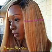 "Honey Blonde Lace Closure 16-18""  - Dark Roots"