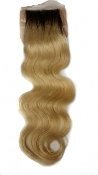 Russian Platinum w/ Roots Body Wave Silk Based Closure 16-18""