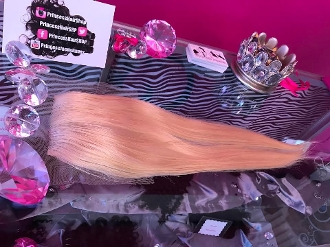 "Russian Platinum Lace Closure 16-18"" W/O ROOTS"