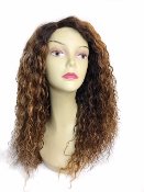 Brazilian Deep Curly Blondes Custom Wig Unit 18""