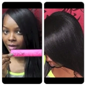 Princess Hair Shop Digital Ceramic Flat Iron-Pink Deco