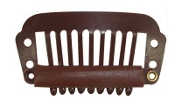 Medium Hair Extension Clips- Brown (set of 26)