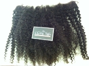 Lace Frontal Mongolian Kinky Curly 16""