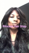 "Brazilian Virgin Body Wave Hair 20"" Lace Front Wig 1B"