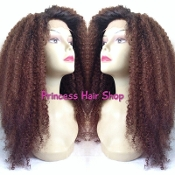 Mongolian Kinky Curly Hair DARK BROWN