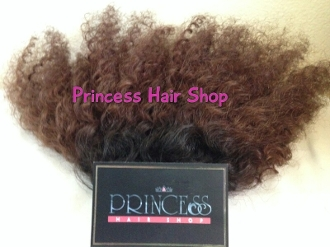 "Mongolian Kinky Curly DARK BROWN 14""-16"""