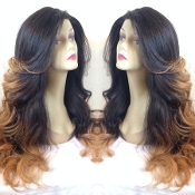 Brazilian Ocean Wave Ombre Closure 16-18""
