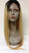 Honey Blonde Lace front Wig W/ROOTS 16""