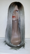 Armenian Gray Natural Wave Custom Wig Unit 20""