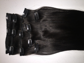 Mongolian Kinky Straight Clip In Extensions
