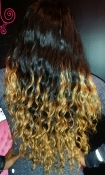 Brazilian Ocean Waves Ombre & Closure Wig Unit 20""