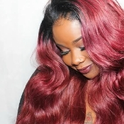Russian Red Luxe Collection Wefted Hair