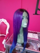 Russian Platinum Mermaid Colored Custom Wig Unit 16""